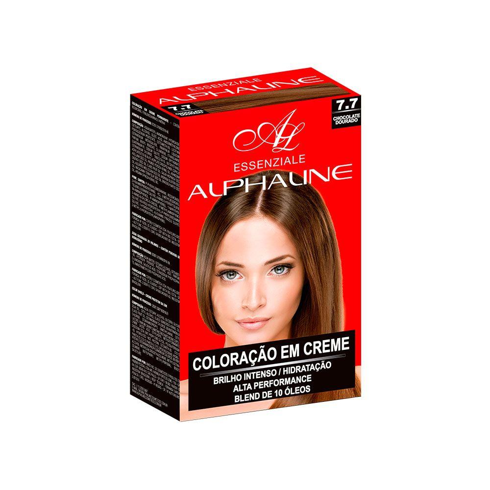 Alpha Line Coloração Essenziale 7.7 Chocolate Dourado