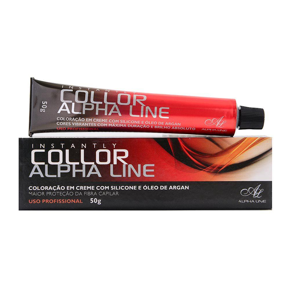 Alpha Line Coloração Instantly Collor 7.1 Louro Médio Cinza