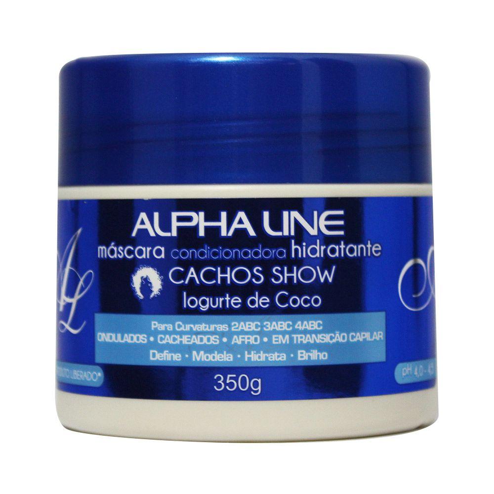 Alpha Line Máscara Cachos Show Iogurte de Coco 350g