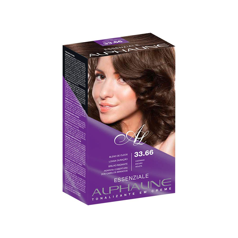 Alpha Line Tonalizante Essenziale 33.66 Castanho Escuro Violeta