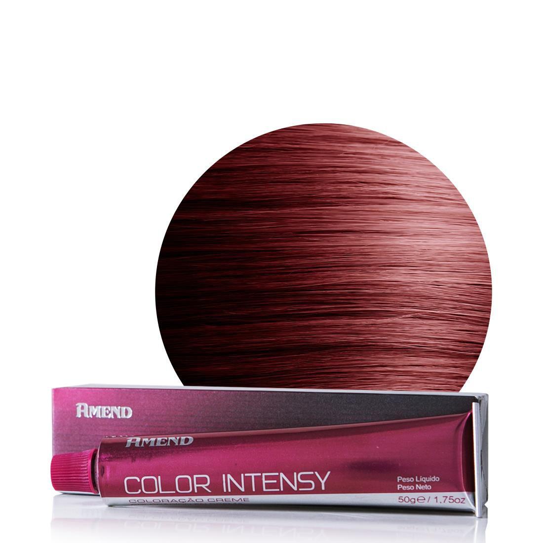 Amend Coloração Color Intensy 4.66 Castanho Médio Vermelho Intenso 50g