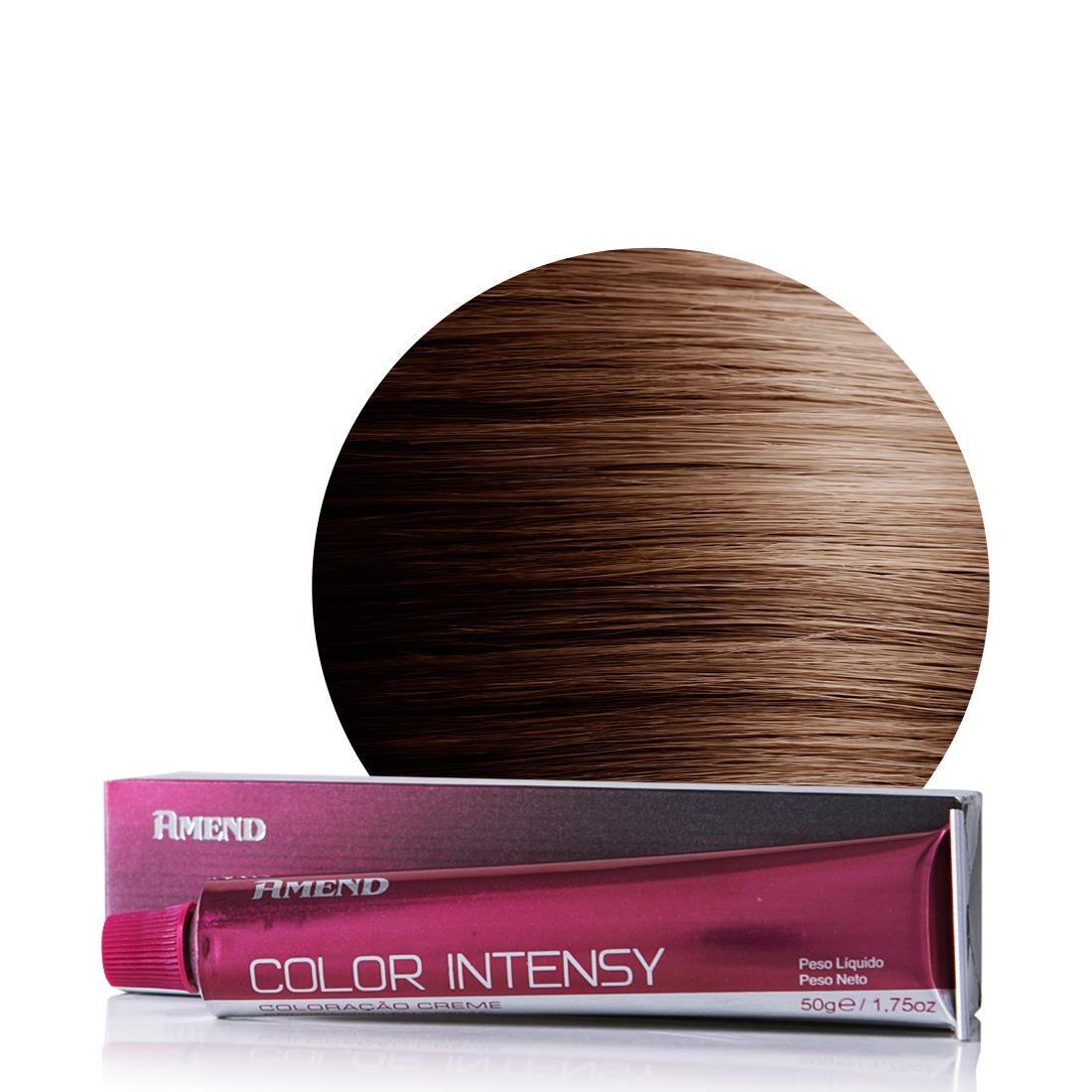 Amend Coloração Color Intensy 6.7 Louro Escuro Marrom Chocolate  50g
