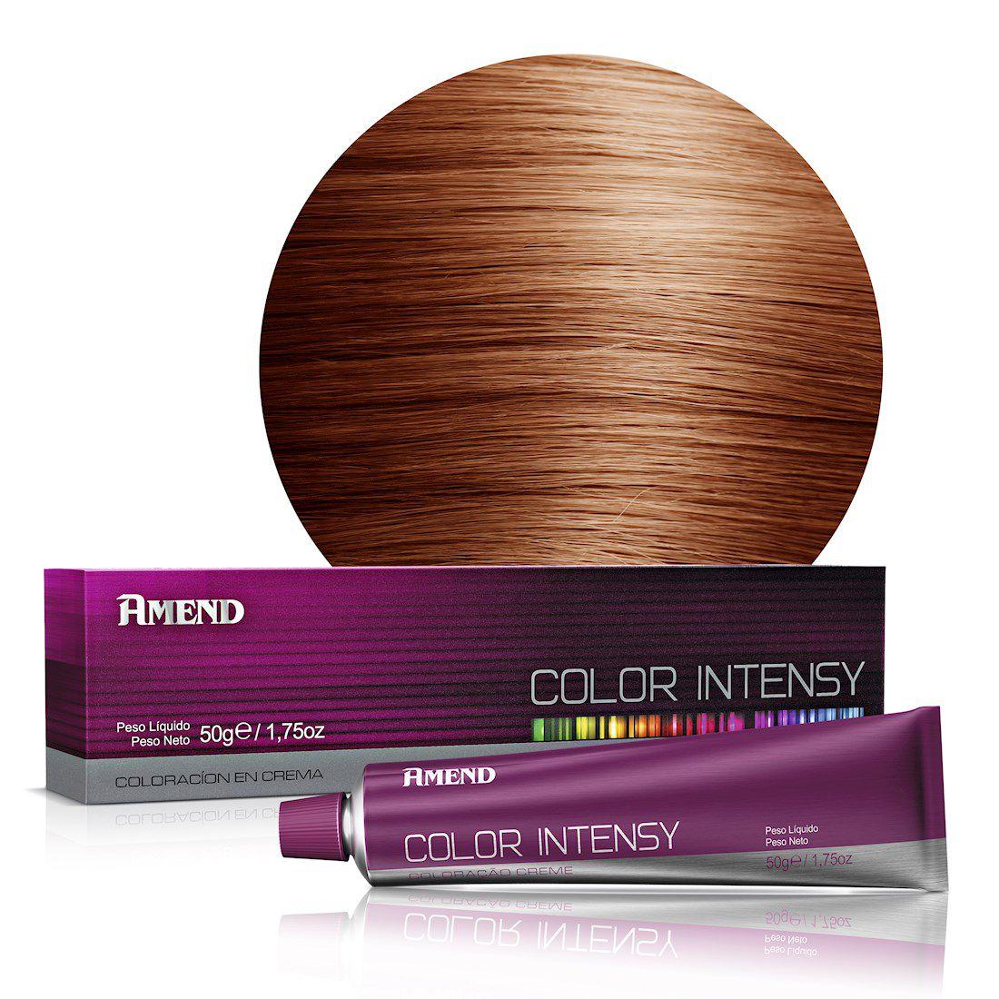 Amend Coloração Color Intensy 7.43 Louro Médio Acobreado Dourado 50g