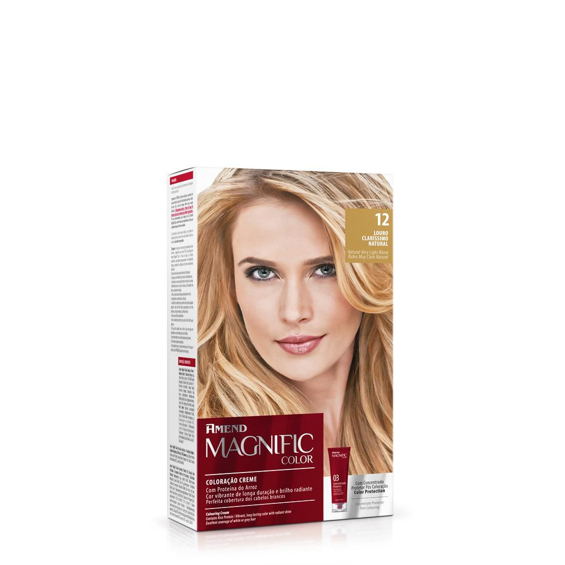 Amend Kit Coloração Magnific Color 12 Louro Clarissimo Natural