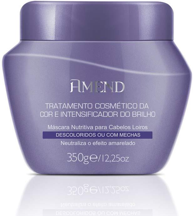 Amend Máscara Matizadora Tratamento Cosmético da Cor e Intensificador do Brilho Descoloridos ou Com Mechas 350g