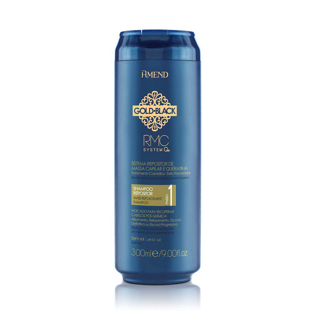 Amend Shampoo Gold Black RMC Q+ Passo 1 300mL