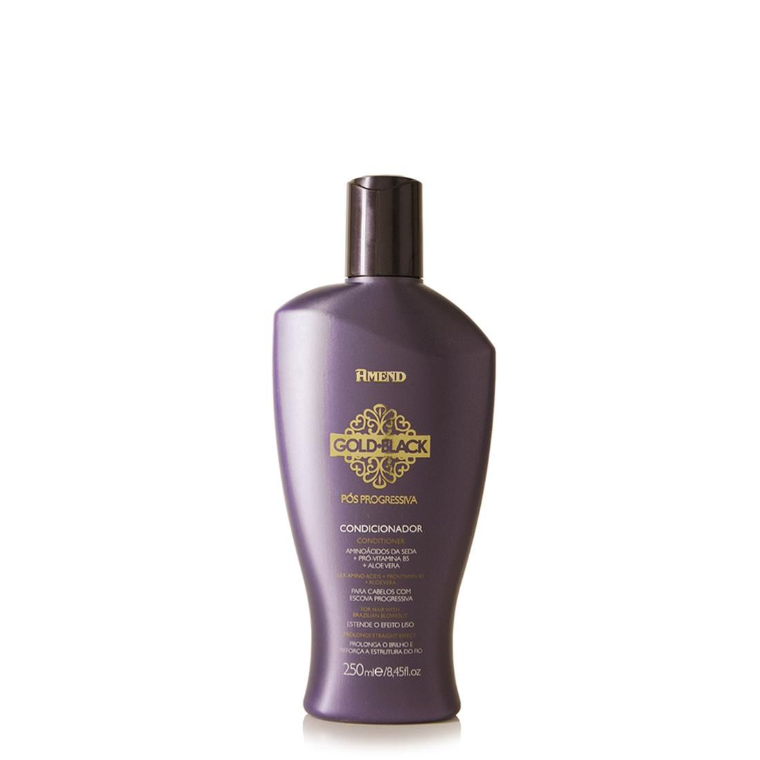 Amend Shampoo Gold Black Pós Progressiva 250mL