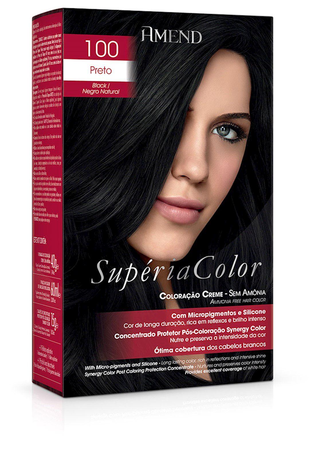 Amend Tonalizante Supéria Color 100 Preto