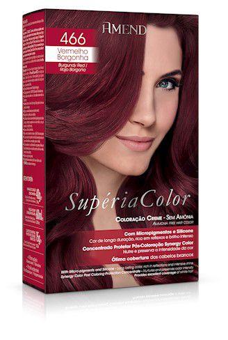Amend Tonalizante Supéria Color 466 Vermelho Borgonha