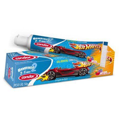 Condor Creme Dental  Bambinos Hot Wheels 50g