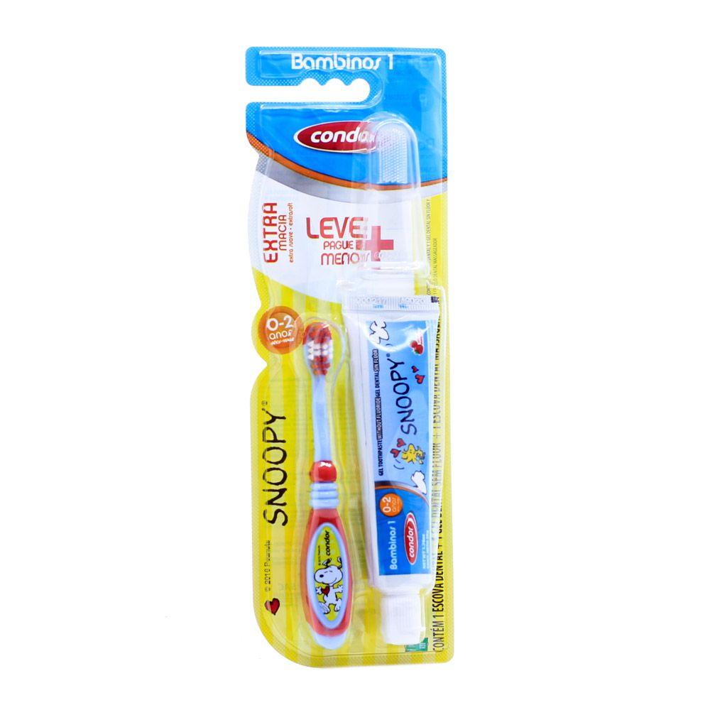 Condor Kit Creme Dental + Escova Dental Baby Snoopy