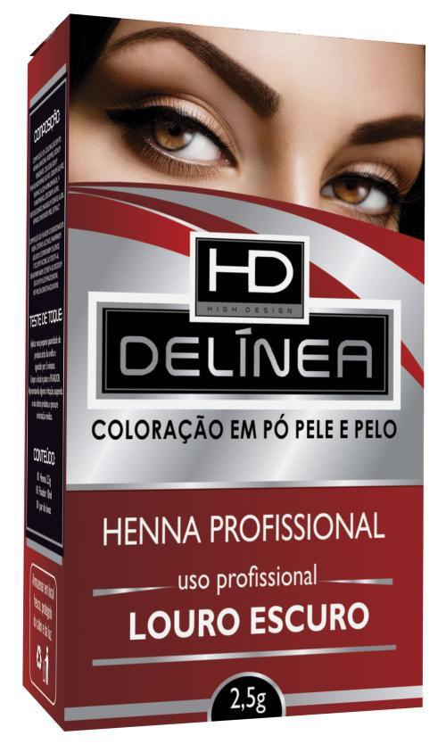 Delínea Henna para Sobrancelha Louro Escuro 2,5g