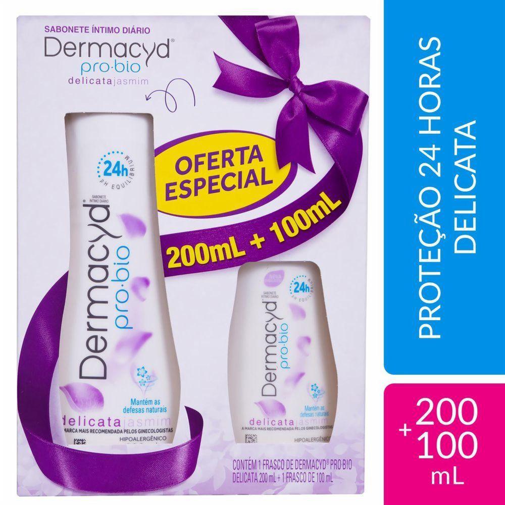 Dermacyd Kit Sabonete Íntimo Delicata 200+100mL
