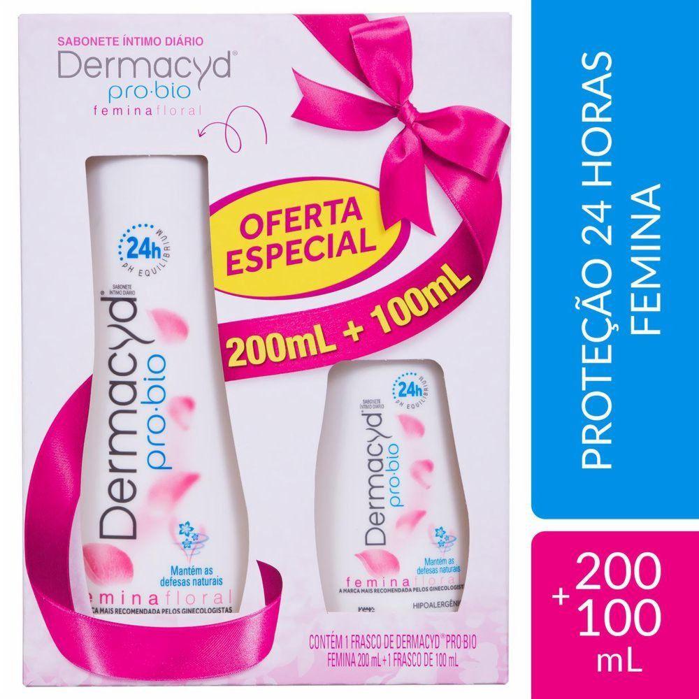 Dermacyd Kit Sabonete Íntimo Femina Floral 200+100mL