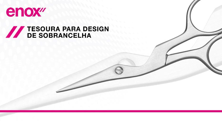 Enox Tesoura para Design De Sobrancelha