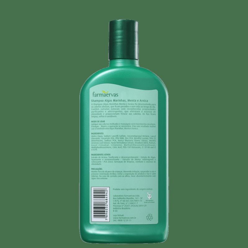 Farmaervas Shampoo Algas e Menta 320ml