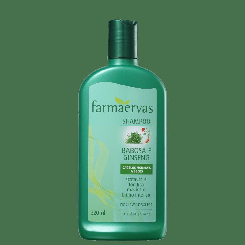 Farmaervas Shampoo Babosa e Ginseng 320ml
