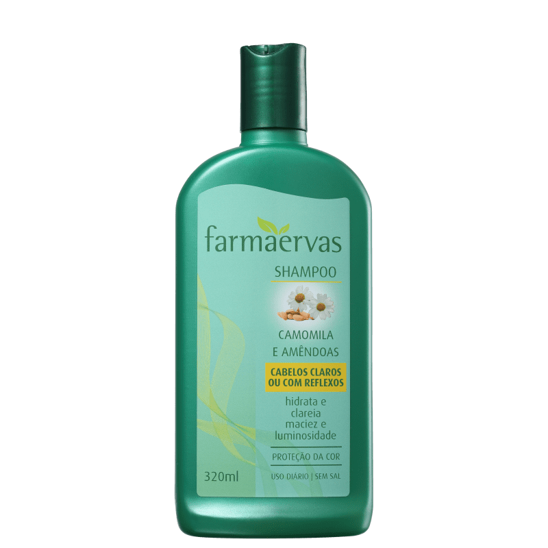 Farmaervas Shampoo Camomila e Amêndoas 320ml