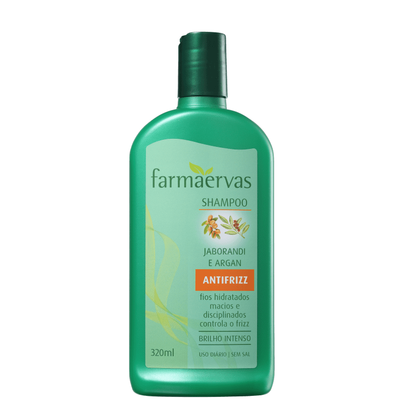 Farmaervas Shampoo Jaborandi e Argan 320ml