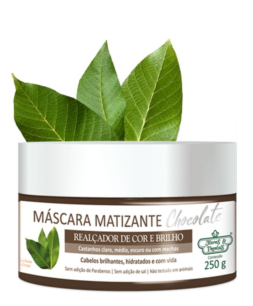 Flores e Vegetais Máscara Matizante Chocolate 250g