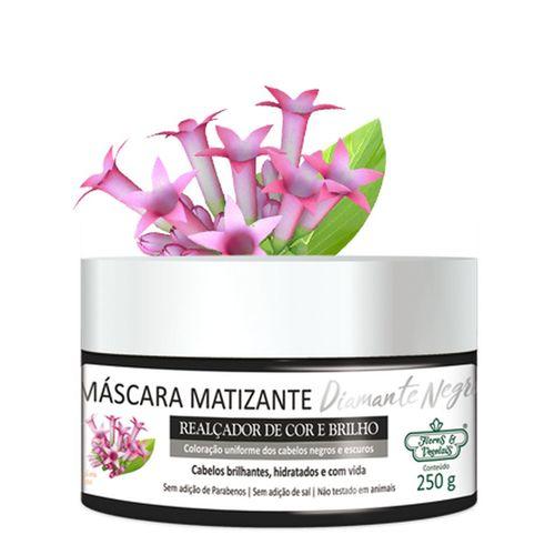 Flores e Vegetais Máscara Matizante Diamante Negro 250g