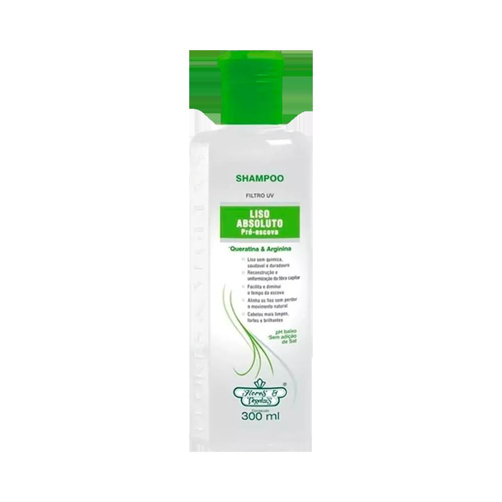 Flores e Vegetais Shampoo Liso Absoluto Pré Escova 300ml
