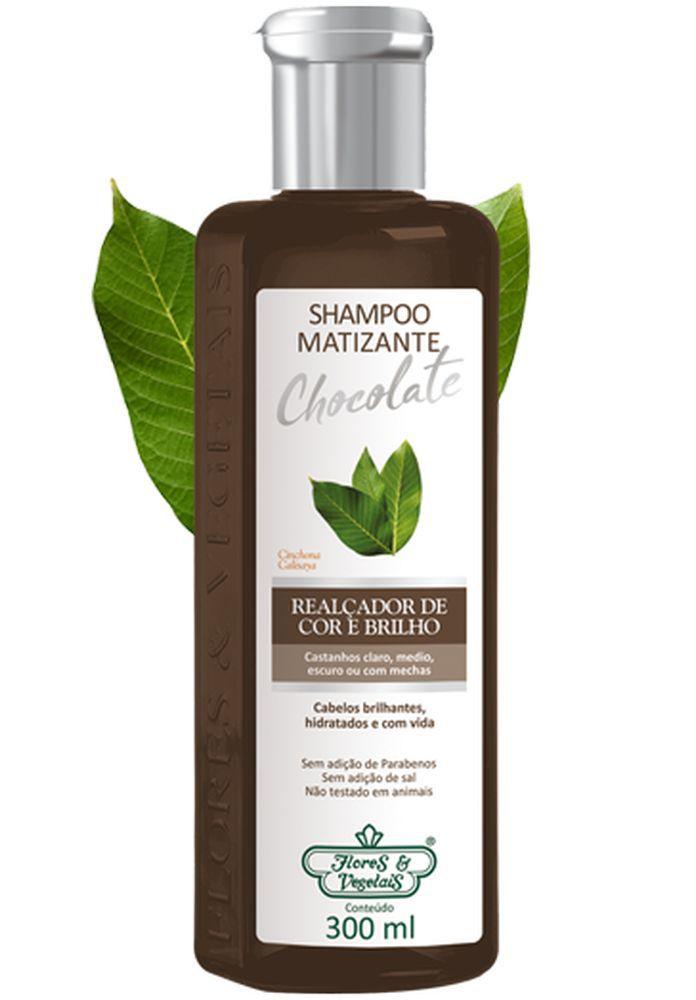 Flores e Vegetais Shampoo Matizante Chocolate 300ml