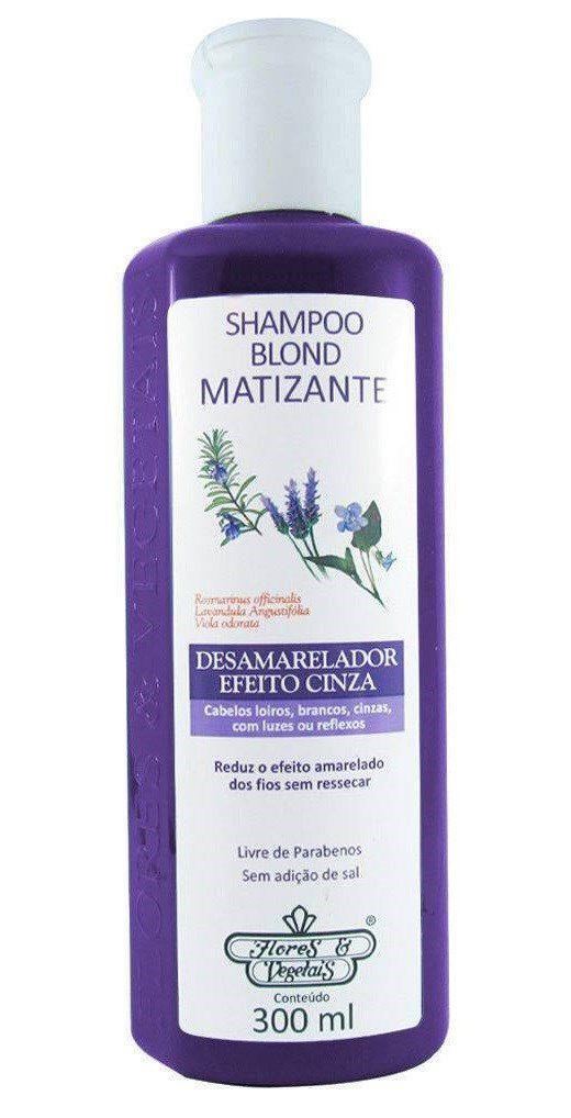 Flores e Vegetais Shampoo Matizante Platinado 300ml