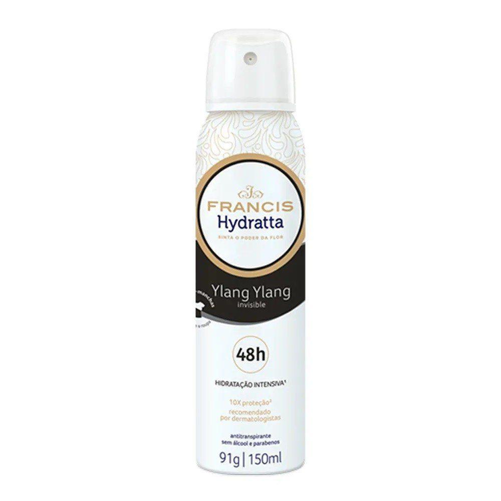 Francis Desodorante Aerosol Hydratta Invisible Feminino 150mL
