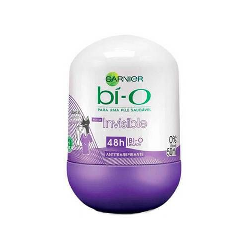 Garnier Bí-O Desodorante Roll-on Invisible Black White Colors Feminino 50mL