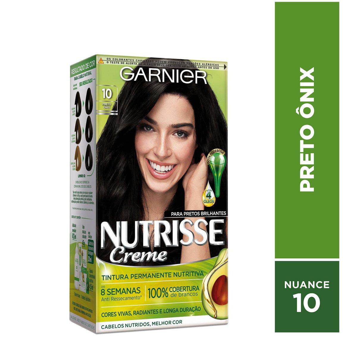 Garnier Coloração Nutrisse 10 Preto Ônix 213g