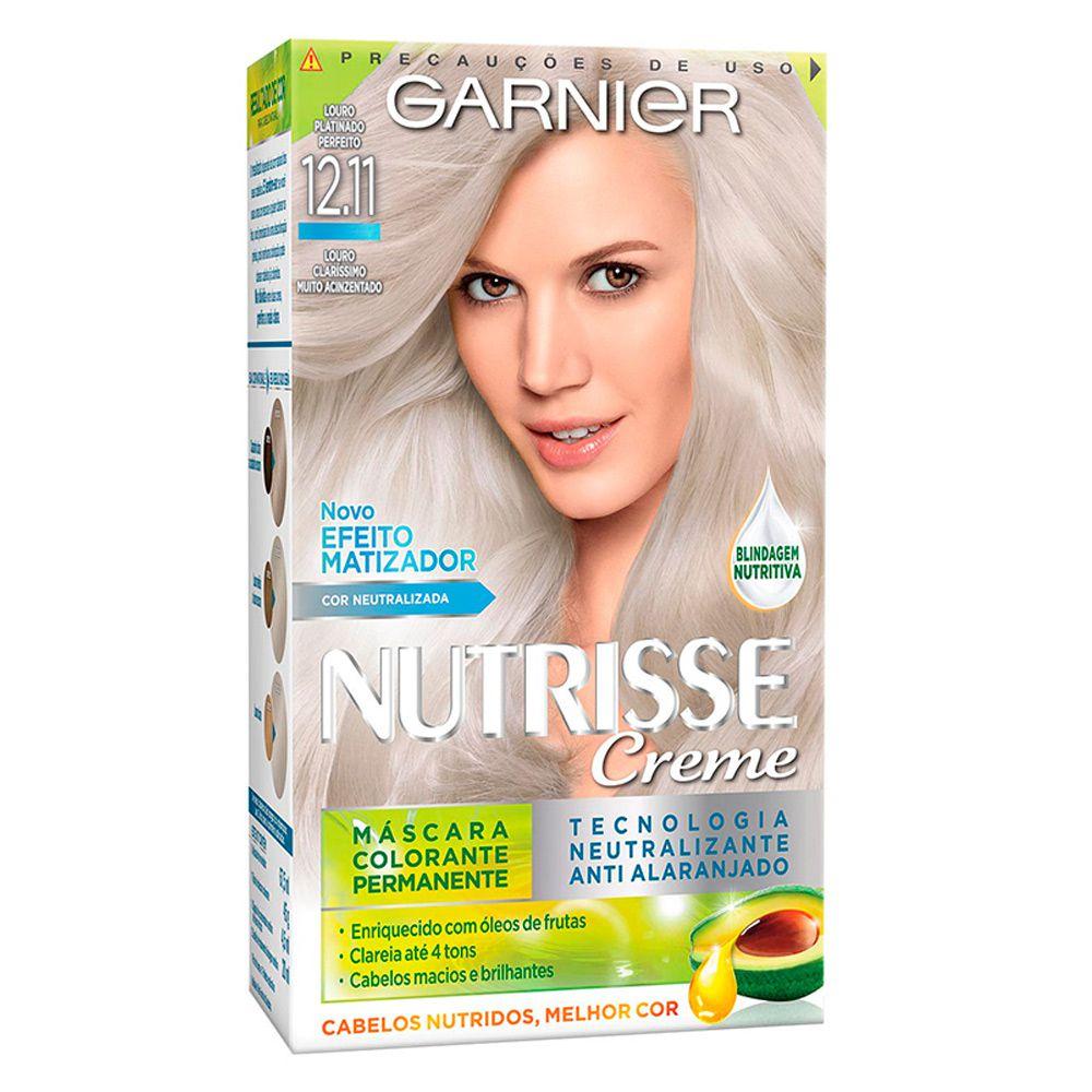 Garnier Coloração Nutrisse 12.11 Louro Platinado Perfeito 213g