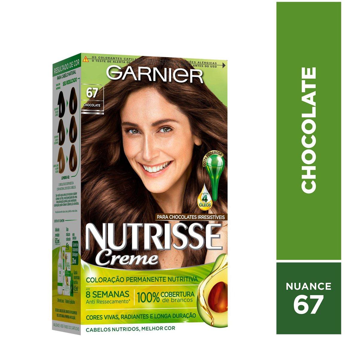 Garnier Coloração Nutrisse 67 Chocolate 213g