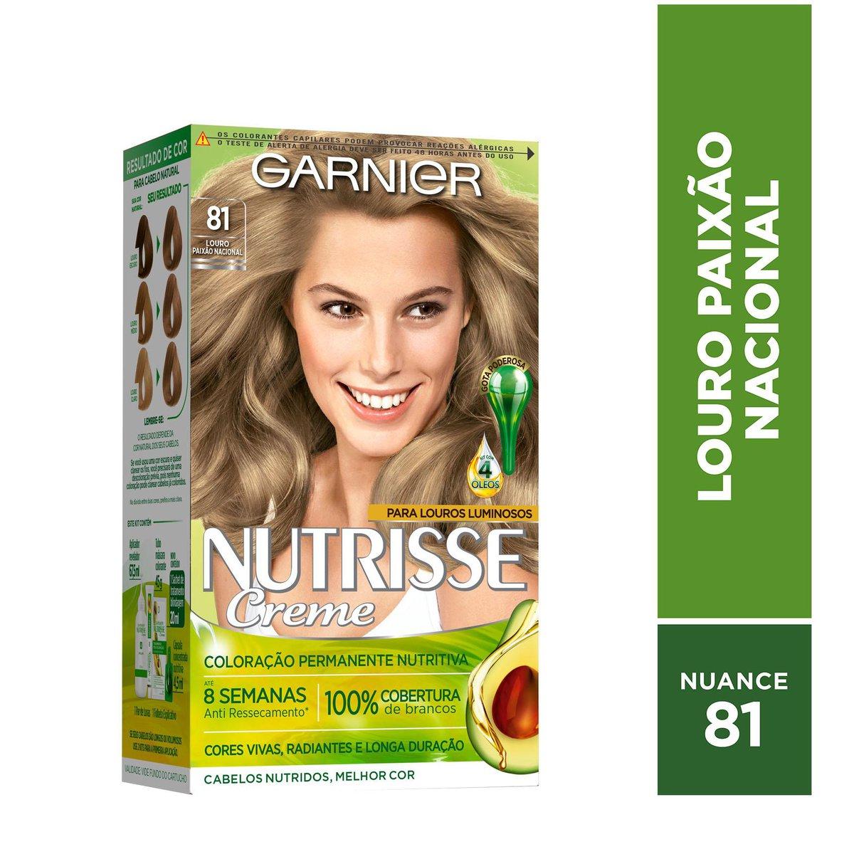 Garnier Coloração Nutrisse 81 Louro Paixão Nacional 213g