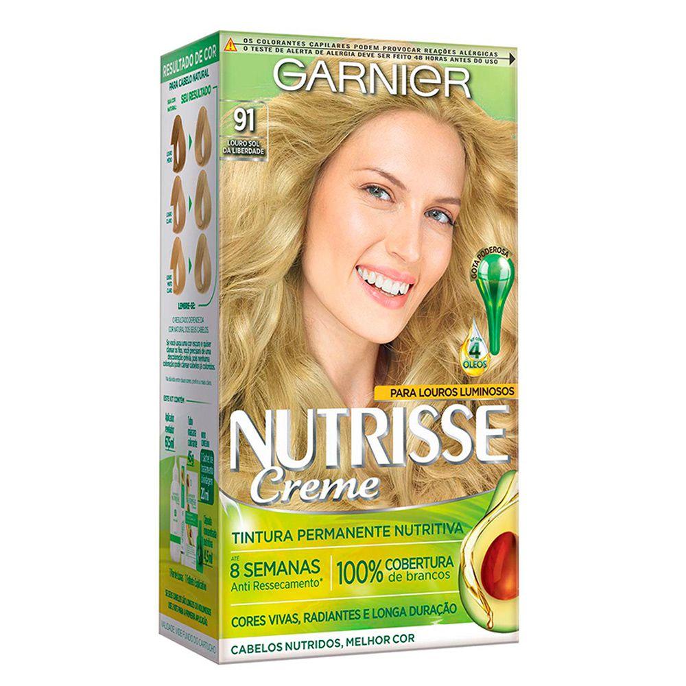 Garnier Coloração Nutrisse 91 Louro Sol da Liberdade 213g