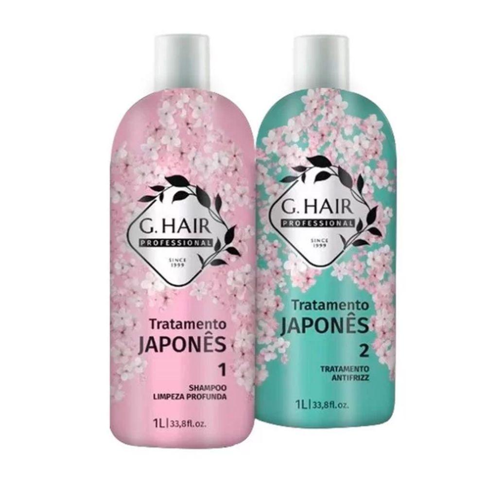 GHair Kit Progressiva Japonesa Shampoo 1L + Máscara 1L