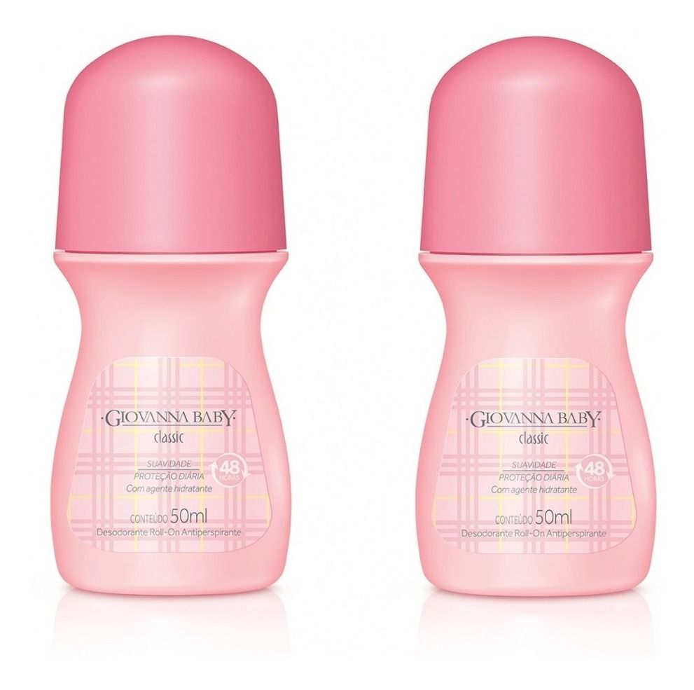 Giovanna Baby Desodorante Kit com 2 Roll-on Classic 50ml