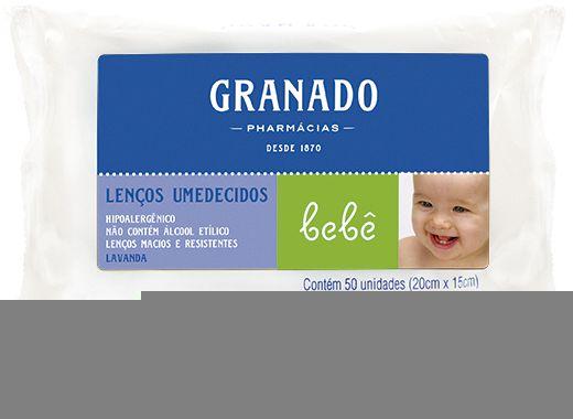 Granado Lenços Umedecidos Bebê Lavanda 100g