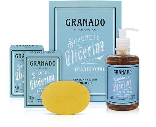 Granado Sabonete Kit Sabonetes Glicerina 3 em 1 510g