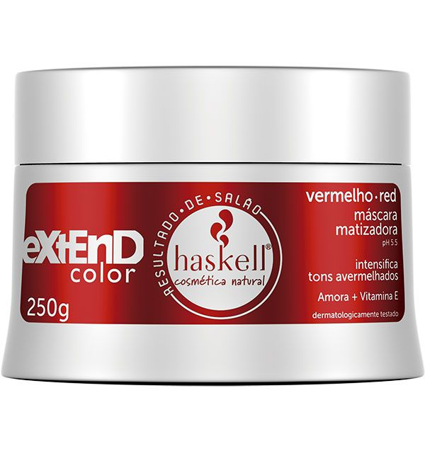 Haskell Máscara Matizadora Extend Color Red 250 g