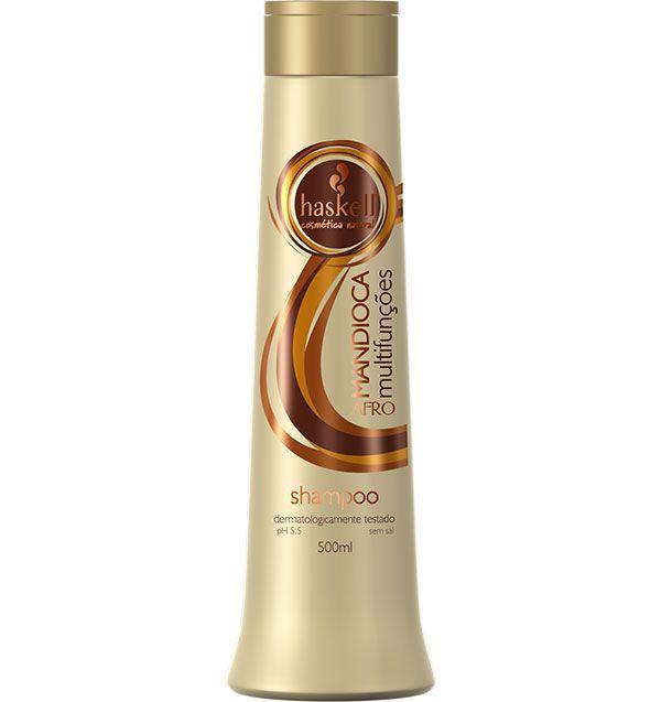 Haskell Shampoo Mandioca Multifunções Afro 500 ml