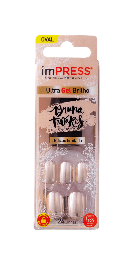 imPRESS Unhas Auto-colantes Bruna Tavares Ouro Rosa
