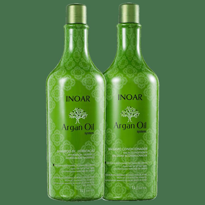 Inoar Kit Shampoo + Condicionador Argan Oil 1L+1L