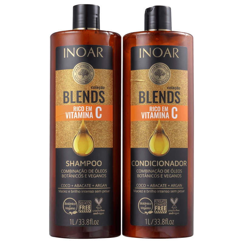 Inoar Kit Shampoo + Condicionador Blends 1L+1L