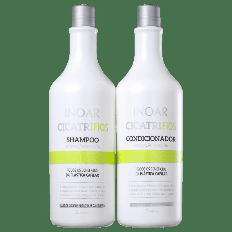 Inoar Kit Shampoo + Condicionador Cicatrifios 1L+1L