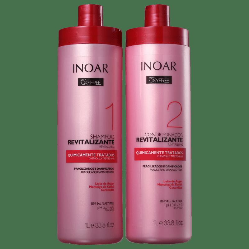 Inoar Kit Shampoo + Condicionador Oxyfree Pós Progressiva Química 1L+1L