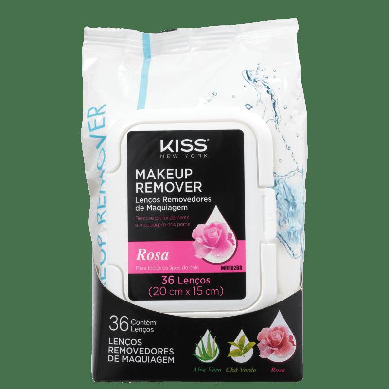 Kiss Lenços Demaquilantes Rosa 36 unidades 200g