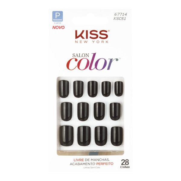 Kiss Unhas Postiças Salon Color Chic