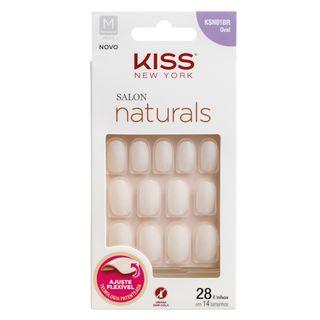 Kiss Unhas Postiças Salon Naturals Oval Médio
