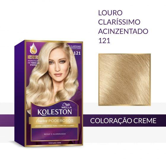 Koleston Coloração 121 Louro Claríssimo Acinzentado
